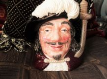 LARGE COLLECTABLE ROYAL DOULTON CHARACTER TOBY JUG PORTHOS D6440 1955 7.5""